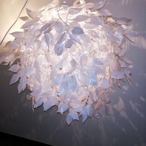 Lamp White Silk Leaves